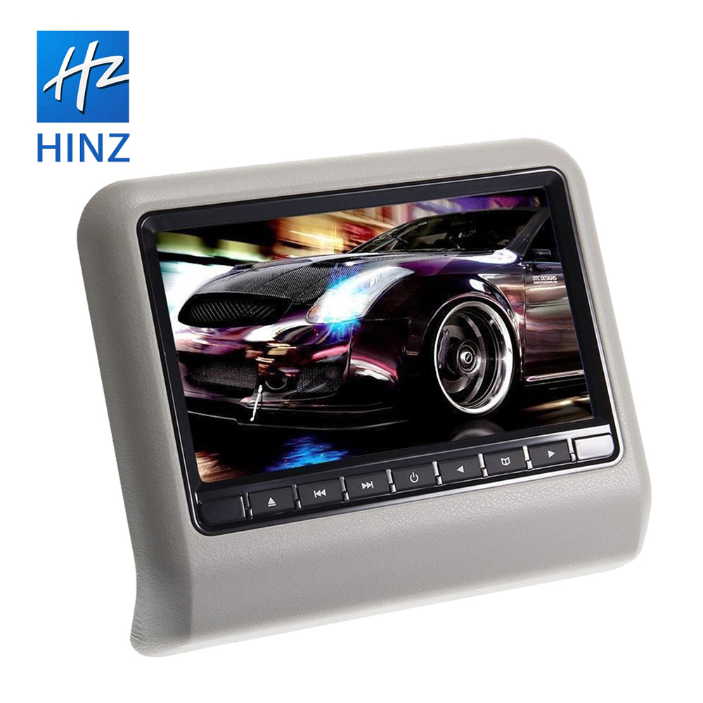 9 inch HD Digital LCD Screen DVD Car Headrest with hdmi input touch button monitor car headrest car pillow tft lcd monitor