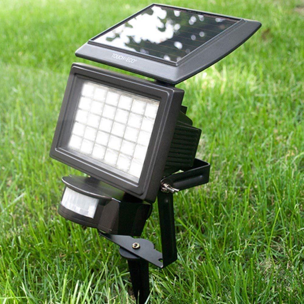 Touch Of ECO TOE047 Nitewatch Solar 30 LED Flood Light, Black
