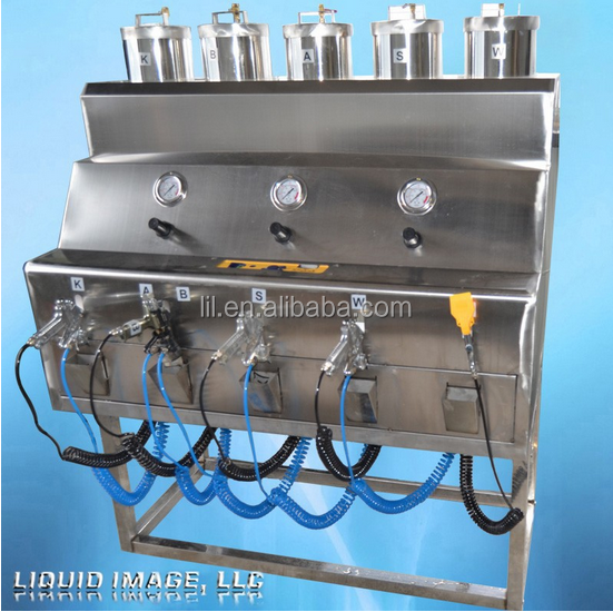 free training gold shinning silver chrome spray painting machine for plastic