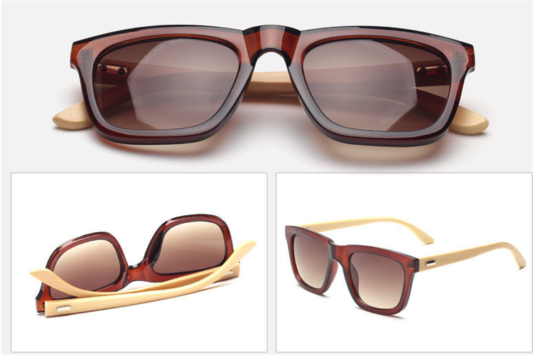 New wooden Men's and women's PC frame sunglasses
