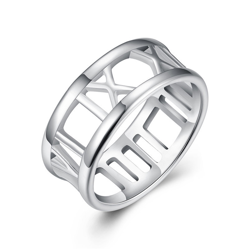 Hot Sale Hollow Design FashionJewelry <strong>SilverRings</strong> For Women Hollow Ring Design AR-022 Moonso