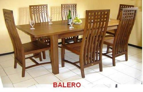 Balero Dining Set 6-seater Made of Tanguile Wood