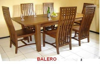 Balero Dining Set 6 Seater Made Of Tanguile Wood