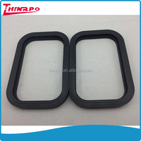 adhesive square silicone gasket pure silicone rubber seal gasket 125mm lenght 85mm width