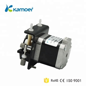 Kamoer KCS mini stepper motor 12v self-priming small water circulation peristaltic pump