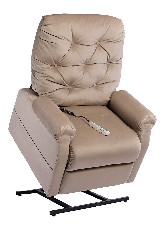 Mega Motion NM200 Alfred Power Recline Lift Option Chair, Medium, Camel