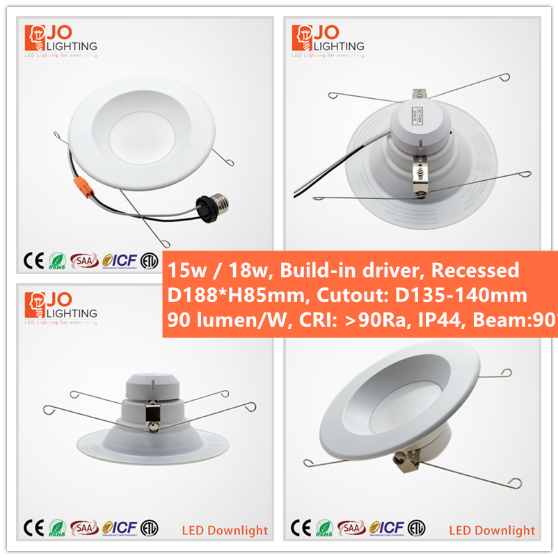 CETL APPROVED dimmable 8 inch recessed led down light JOLIGHTLED