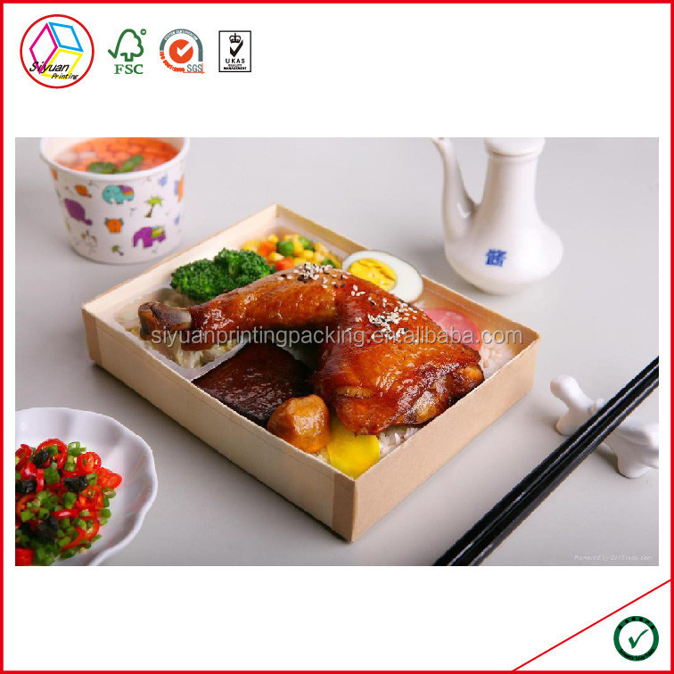 High Quality Custom Paper Bento Box