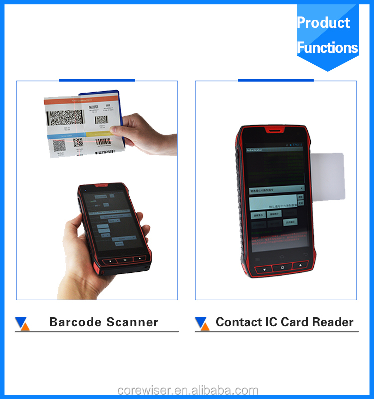 Industrial Pda Rugged Barcode Scanner With Display 2d Barcode ...
