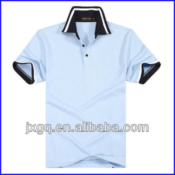 Collar color combination wholesale cotton plain man polo for Cheap polo collar shirts