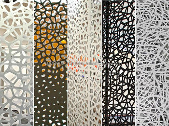 Decorative laser cut metal screen design buy decorative for Steel divider design