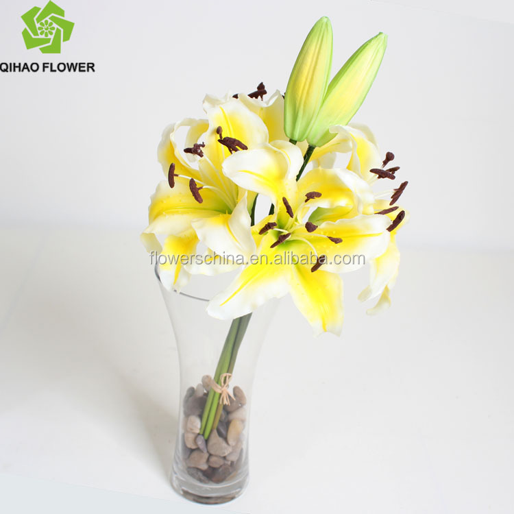 Indoor Decoration Washable Plastic Flowers Artificial Tiger Lily ...