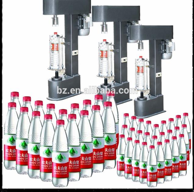 Manual pneumatic capper equipment for plastic bottles semi.