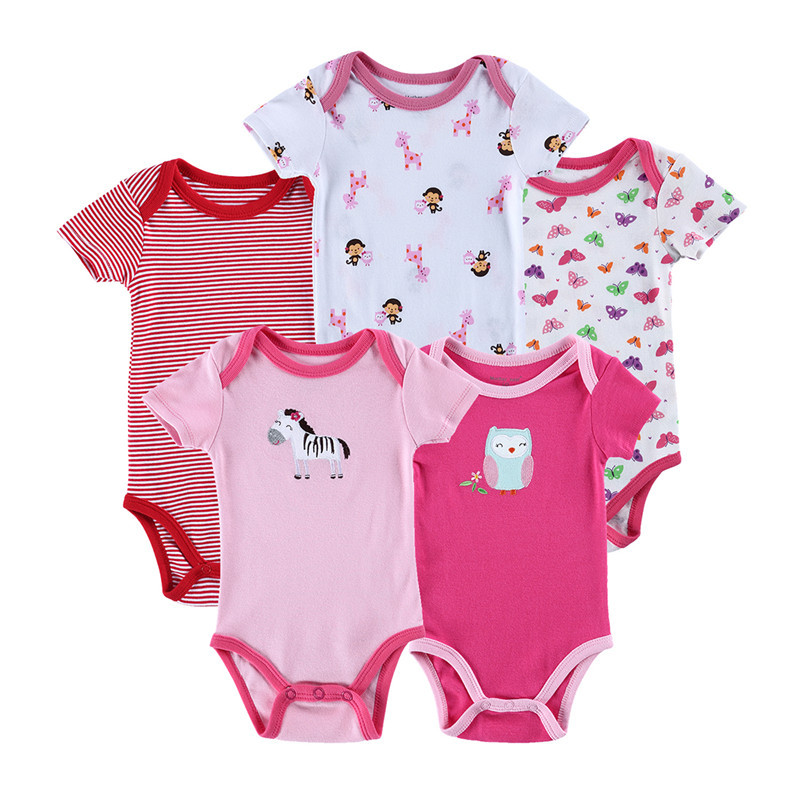 47d30bbd1b959 Buy BODYSUIT Infant Clothes 5pcs/lot Newborn Baby Carters BABY Boy ...