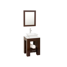 Small size modern cheap bathroom vanity cabinet with single wash basin