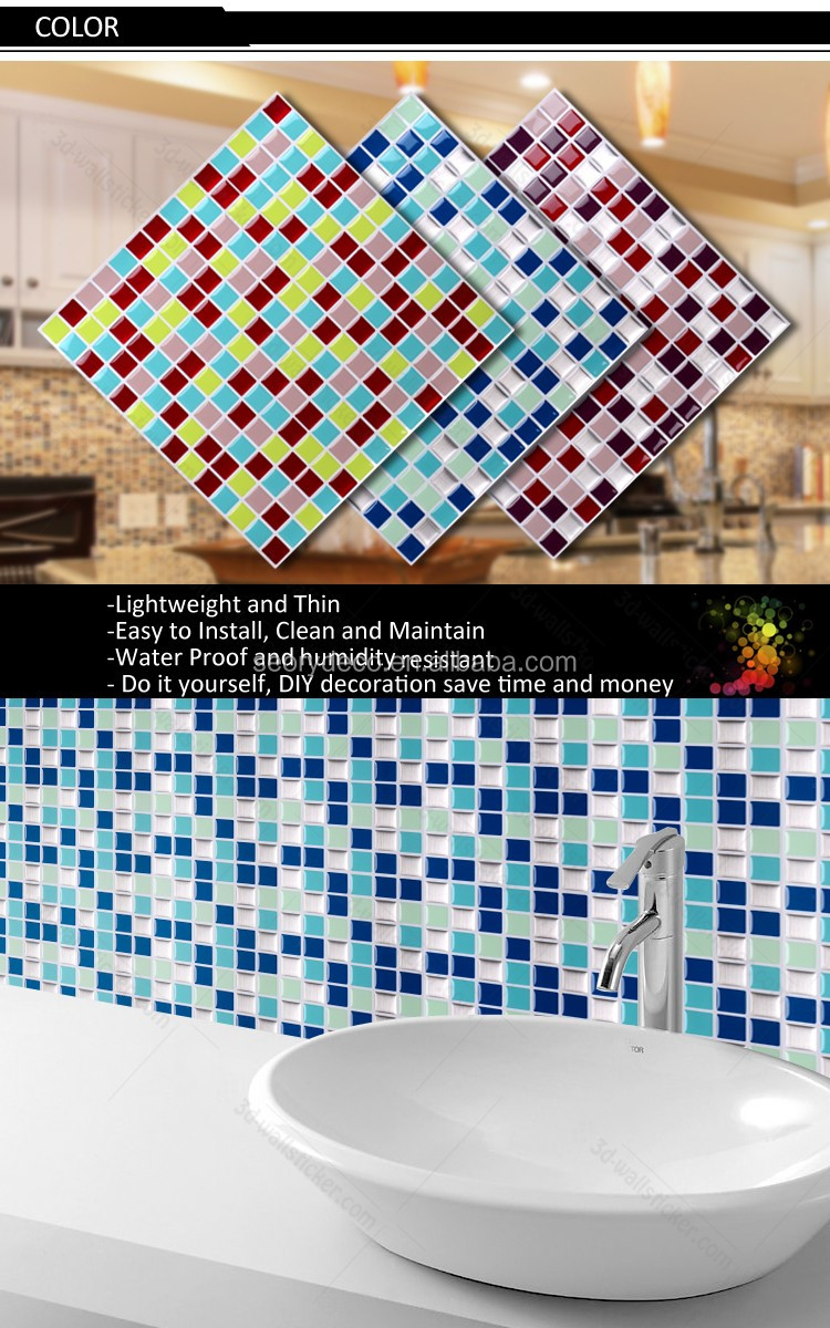 Korea Style Home Decor Items Auto Adhesive Embossed Wall Sticker Tiles Peel Stick Mosaic Buy