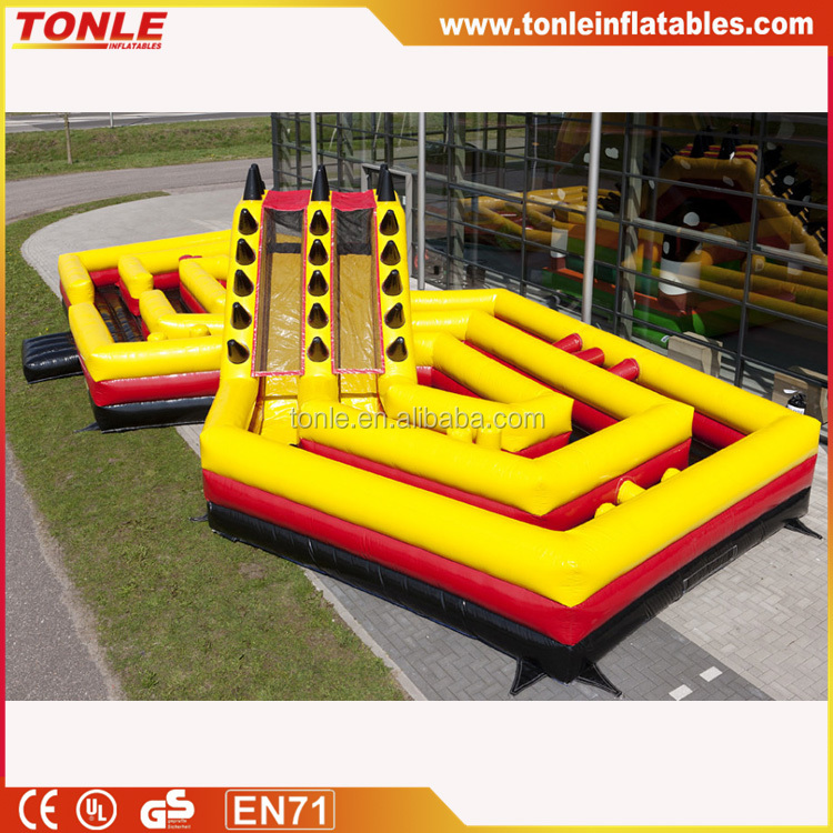 Battle themed inflatable obstacle course/Inflatable obstacle course The Battle for sale
