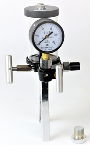 Hand pressure calibration manual test pump