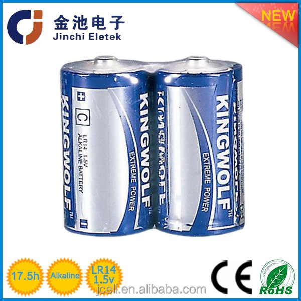 china suppliers the alkaline no hazardous substance for the durable of the 1.5v alkalinelr14 c dry battery mad ein china