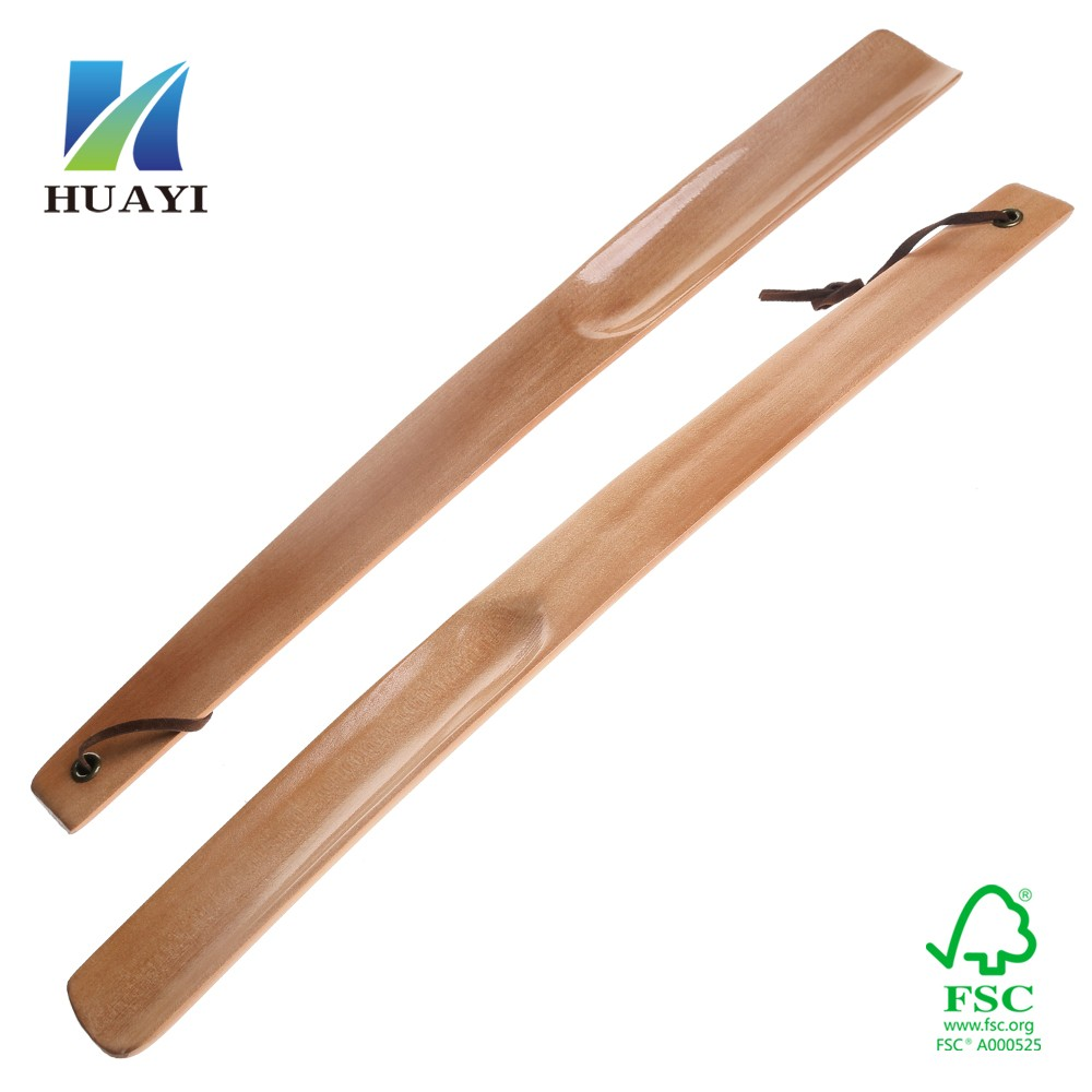 Wholesale high end original wood long shoe horn