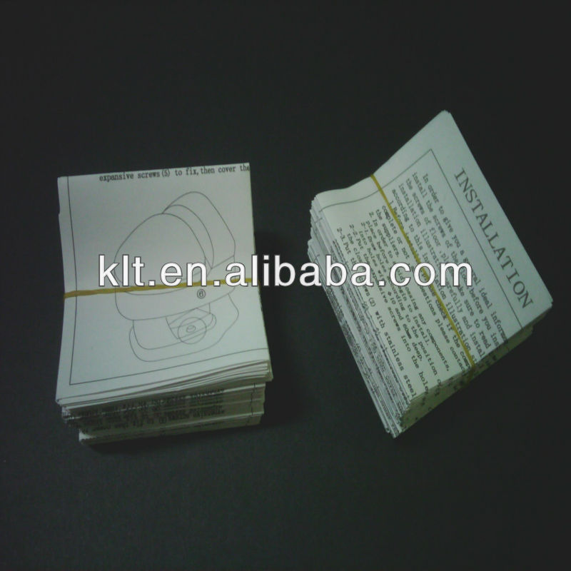Paper instruction manuals printing