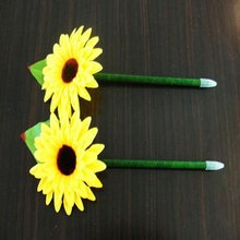 Wholesale china novelty craft handmade sunflowe ballpoint pen