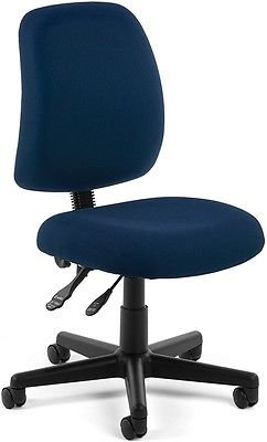 Medical Office Task Chair in Navy Fabric - Clinic Office Receptionist Chair
