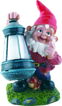 Outdoor Solar Powered LED GARDEN Resin Dwarf Lighting Resin Custom Garden  Gnome