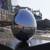Modern Large Mirror Polished Stainless Steel Egg Sculpture For Garden Decoration