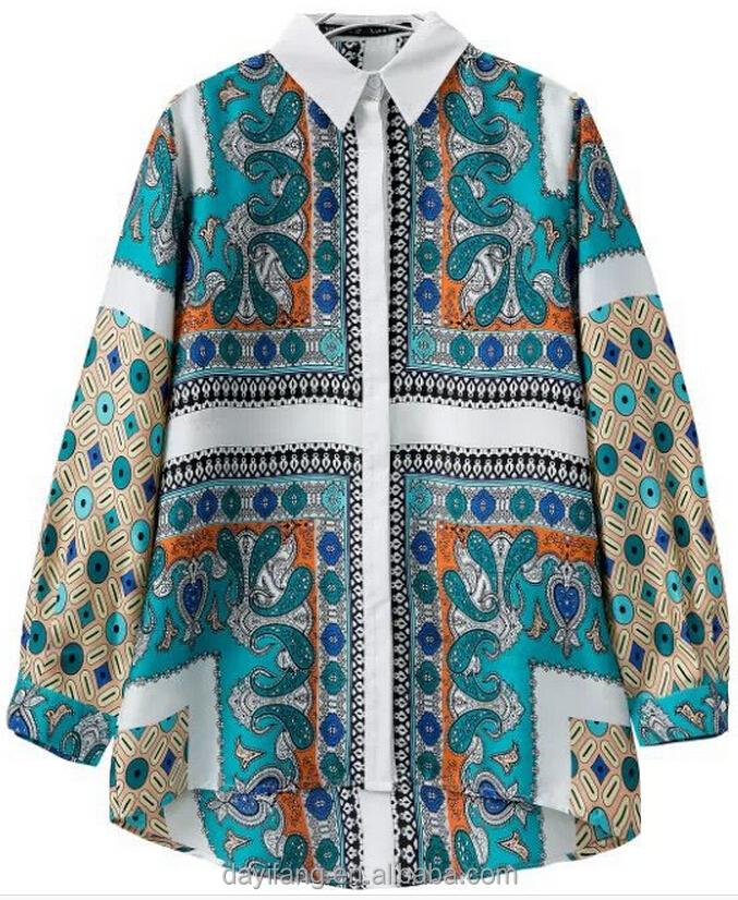 Women silk shirt chinese custom printing shirts hawaiian Custom printed women s t shirts