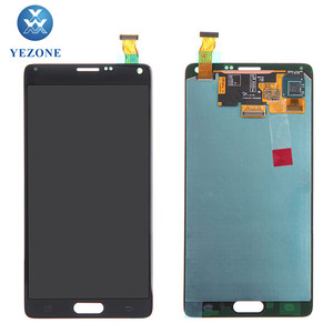 New Arrival White Gray Gold Price LCD For Samsung Galaxy Note 4 N9100 LCD Touch Screen Combo