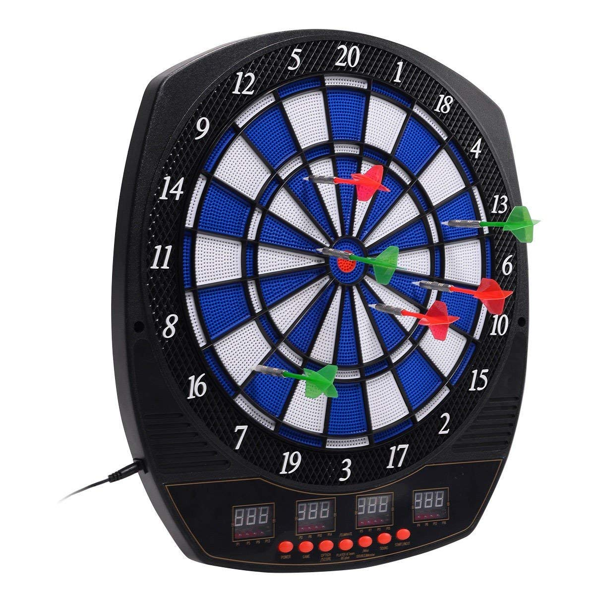 CWY LCD Display Arachnid Electronic Dart Board Set w/6 Darts