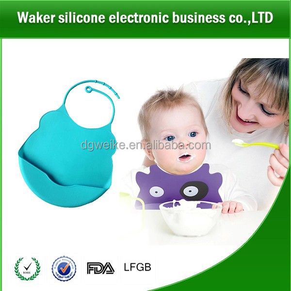 2017 new direct sale baby product items from factory Non-toxic reusable silicon baby bids with EN-07, FDA approval