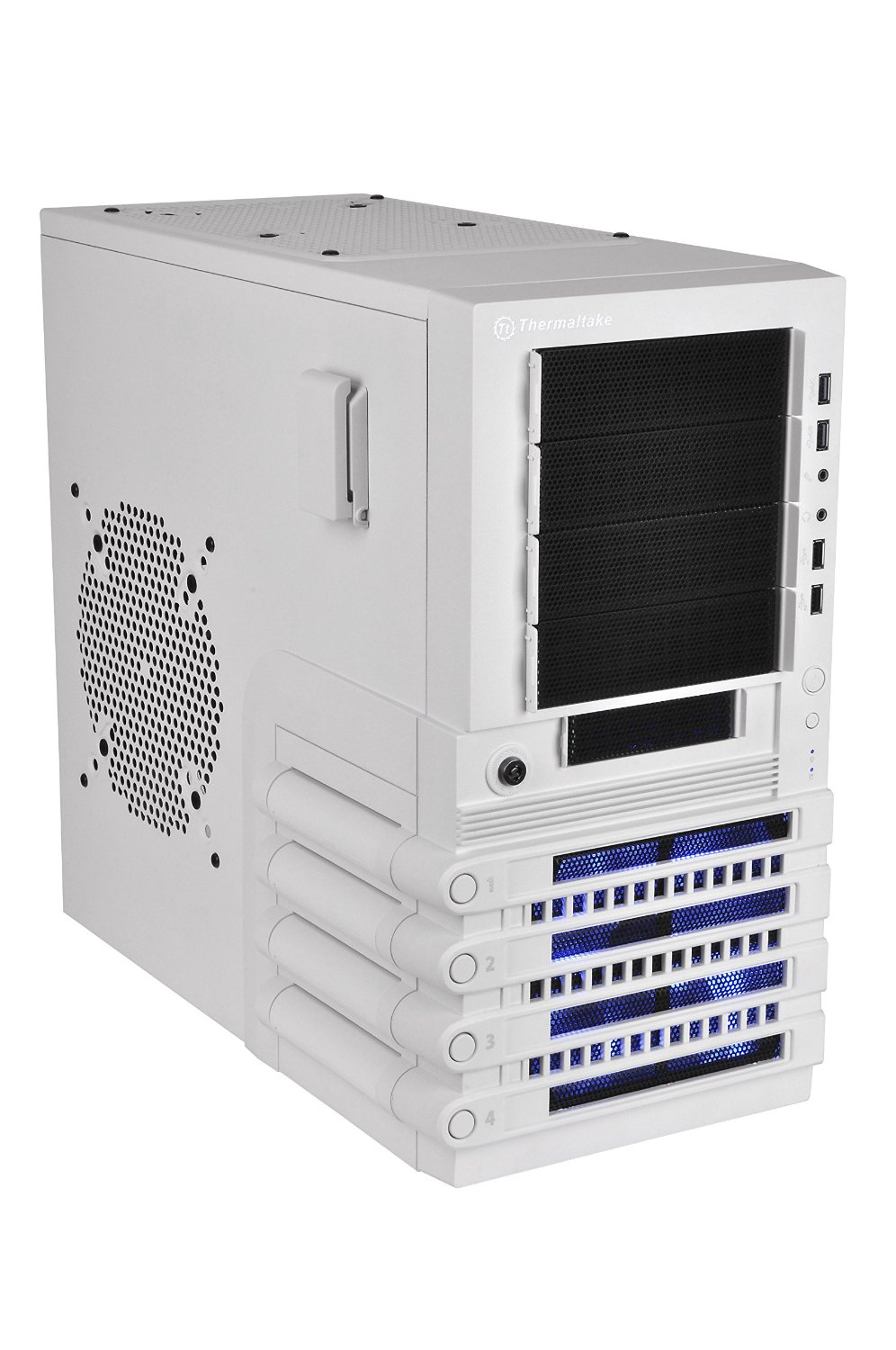 Thermaltake LEVEL 10 GTS Snow Edition White ATX Mid Tower Gaming Computer Case