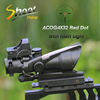 ST 1003 Shoot Thing Sight ACOG Style 4X32 Rifle Real Red Optical Fiber Red Dot sight scope+Mini Red Dot With Marking scope