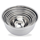 stainless steel high quality cooking set of 7 salad bowl