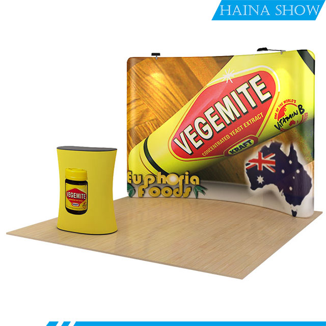 10 ft fast tension fabric set up backdrop display for trade <strong>show</strong>
