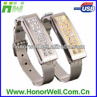 HW-UJ002 premiums wristband bracelet watch usb flash drive for gift and promotion