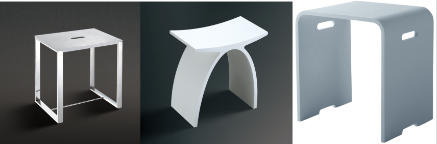 Best Kc Bathroom Shower Seat Shower Bench Solid Surface Resin Stone Shower  Stool With Free Standing Shower Bench