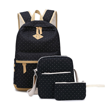 School Backpacks For Teenage Girls Fashion Polka Dot Printing