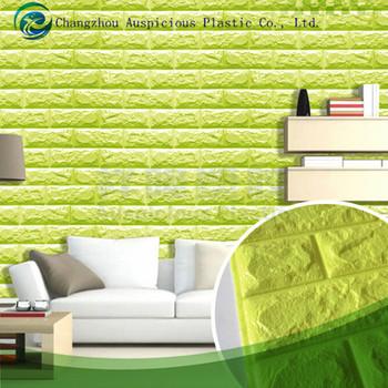 self-adhesive wall sticker panels 3d stone brick soft foam thick