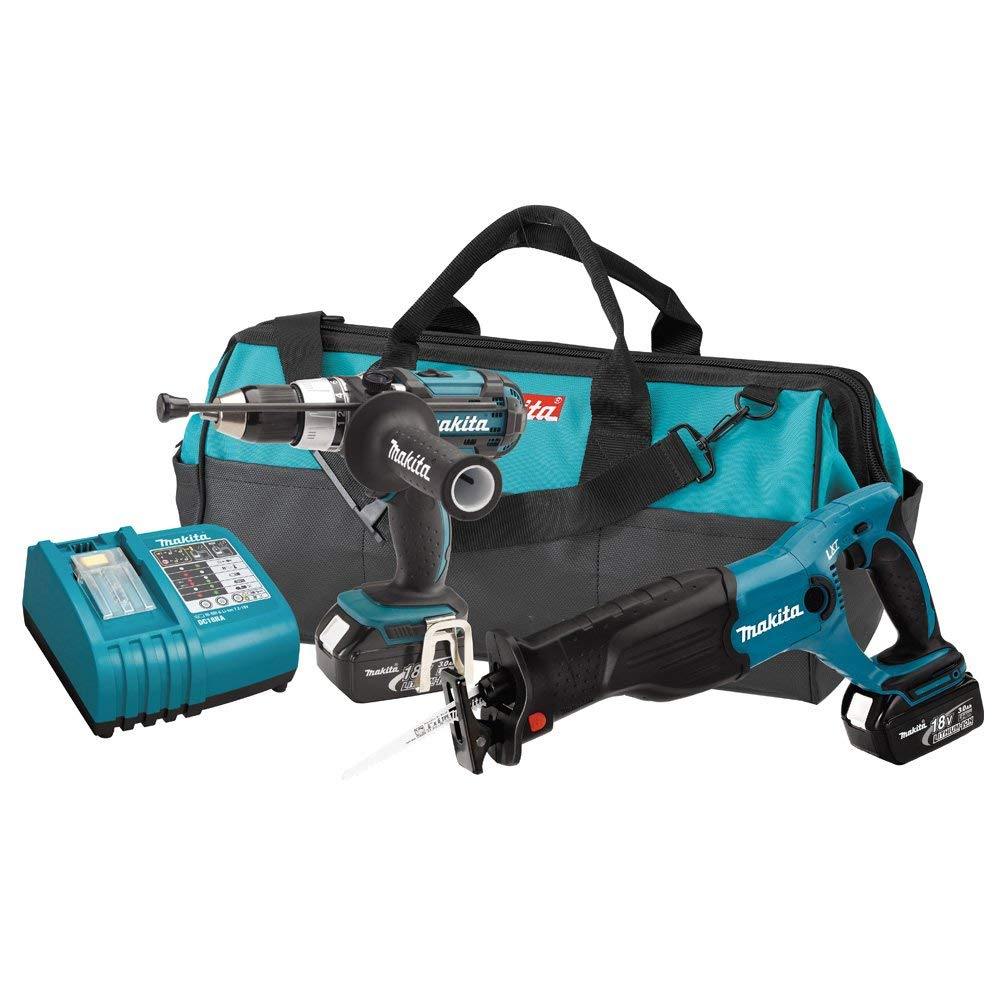 Makita LXT221 18-Volt LXT Lithium-Ion Cordless Two-Piece Combo Kit (Discontinued by Manufacturer)