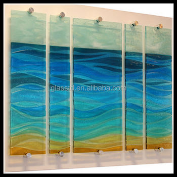 Attractive New Design Tempered Glass Wall Art Panels