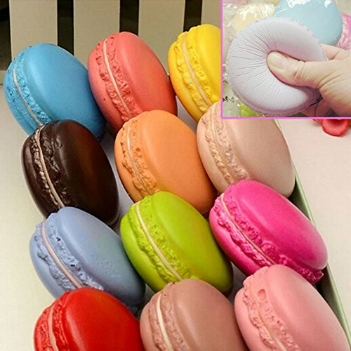 Smiling tree ,Color Soft Dessert Macaron Squishy Cute Cell Phone Charm Key Straps Random