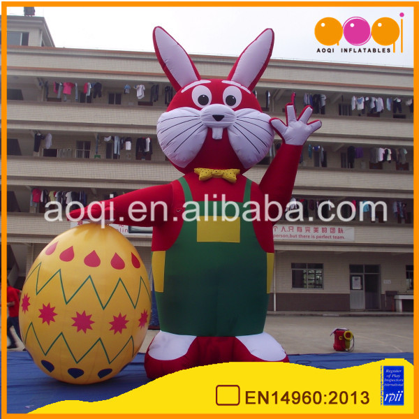 lovely inflatable easter rabbit