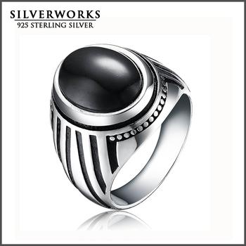 Bahasa Arab Pria Cincin 925 Sterling Silver Hitam Batu Permata Cincin Buy Perak Pria Cincin Arab Cincin Perak Pria Cincin Product On Alibaba Com