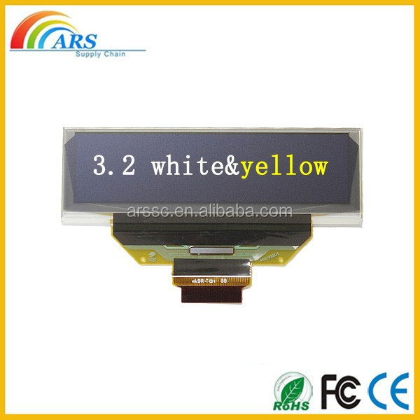 3.2 inch white/yellow color oled mircro display oled display use for MP4 player