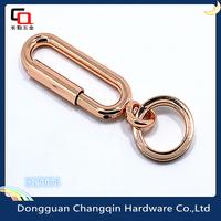 Free samples rose gold zinc alloy turn handbag twist hook wholesale