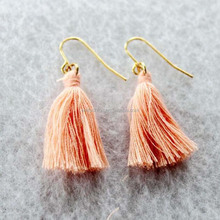 New Arrival Women Simple Cheap Fabric Tassel Earring