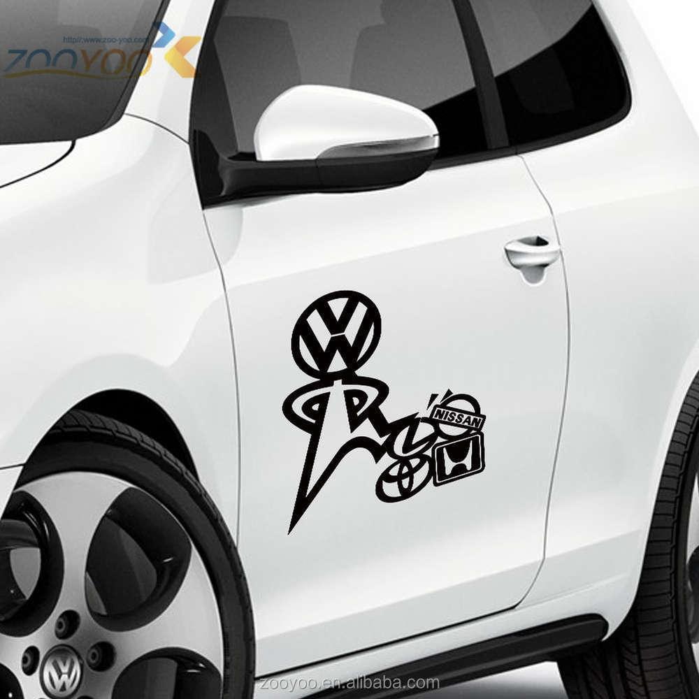 Car sticker design - Vinyl Car Srickers Zooyoo Art Vinyl Sticker For Car Removable Car Sticker Design Car Decoration